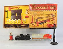 Assortment of Marx Accessories & No.21 Santa Fe.