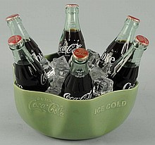 1930's Coca-Cola Green Display Bowl.