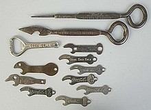 Lot of 12 Asst. Pre-1950 Coca-Cola Bottle Openers