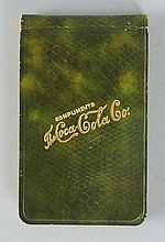 Leatherette 1906 Coca-Cola Notebook.