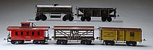 Ives 5pc. STD Gauge Rolling Stock Lot.