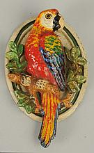Cast Iron Parrot on Branch Door Knocker.