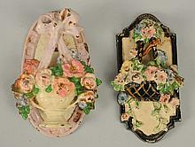 Lot of 2: Cast Iron Mixed Flower Doorknockers.