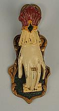 Cast Iron Ladies Hand Paper Clip Bill Clip.