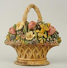 Cast Iron Jonquils & Tulips in Basket Doorstop.