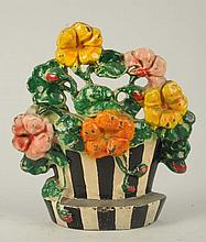 Cast Iron Nasturtiums Flower Doorstop.