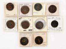 Lot Of 10: Colonial Coins.
