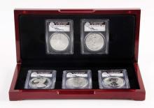 Set Of 5: Silver Eagles 2011.