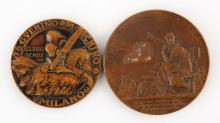 Lot Of 2: Bronze Medal.