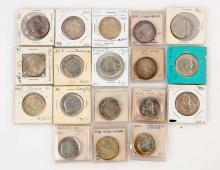 Lot Of 18: Silver Commemorative U.S. Coins.