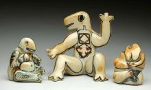 Lot of 3: B & G Copenhagen Abstract Figurines.