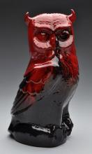Large Royal Doulton Red Flambe Owl.