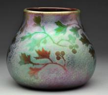 Weller Sicard Vase with Leaves & Berries.