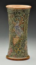 Weller Selma Peacock Vase.
