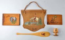 Lot of 5: Native American Themed Souvenir Pieces.