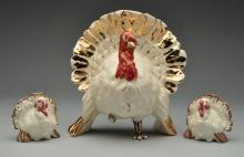 Kay Finch Turkey Figure with Salt & Pepper.