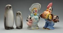 Lot of 4: California Pottery Figures.