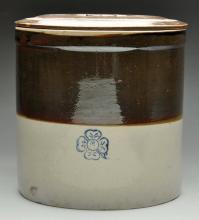 Stoneware Crock with Lid.