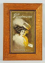 Photo of Girl Advertising Piedmont Cigarettes.