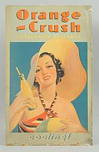 1930s-40s Orange Crush Cardboard.