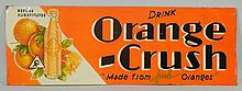 1931 Orange Crush Embossed Tin Sign.