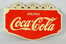 Awesome 1937 Coca-Cola Tin Flange Sign.