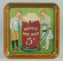 1915-20 Scarce Buckeye Root Beer Serving Tray.