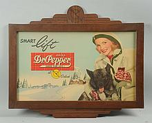 1940s Dr. Pepper Poster & Original Frame.
