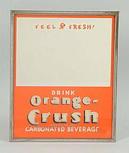 C. Late 1930s Orange Crush Mirror Sign.