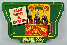 1940s RC Cola 2 Sided Sidewalk Sign.