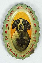 1900-05 Dr. Pepper Needle Tray With Dog.