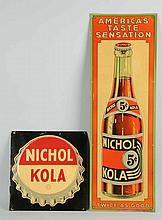 Lot of 2: Nichol Kola Tin Signs.