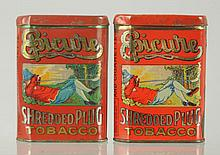 Lot of 2: Epicure Vertical Pocket Tobacco Tins.