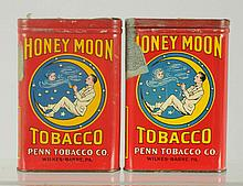 Lot of 2: Honeymoon Pocket Tobacco Tins.