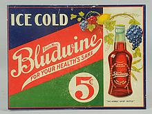 1915-20 Bludwine Tin Flange Sign.