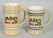 Lot of 2: Lash's Root Beer Mugs.