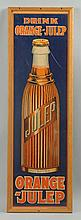 1930s Orange Julep Graphic Paper Sign.