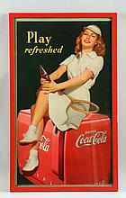 1949 Coca-Cola Framed Small Poster.