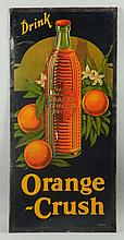 1920s Rare Orange Crush Vertical Cardboard Sign.