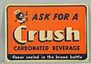 1940s Orange Crush Embossed Tin Sign.