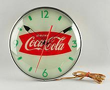 1950s Coca-Cola Swihart Advertising Clock.