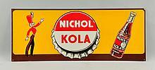 Nichol Kola Tin Advertising Sign.