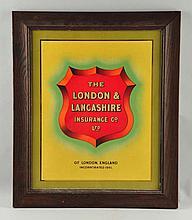 Tin Litho London & Lancashire Tin Litho Sign.