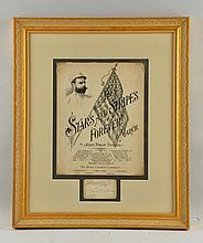 Stars & Stripes Forever Paper Advertising Sign.
