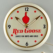 Red Goose Shoes Advertising Clock.