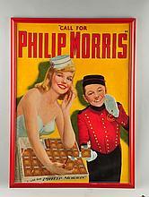 Phillip Morris Cigarette Paper Sign.