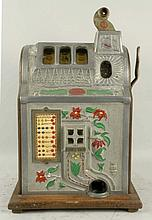 Mills 1929 5¢ Poinsetta Slot Machine.