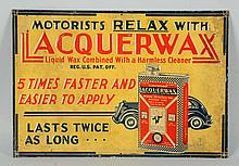 Lacquerwax with Car Graphics Sign.
