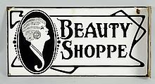 Beauty Shoppe Flange Sign.