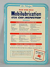 Mobil Lubrication Pledge Sign.
